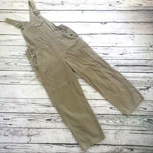 Vintage 1990's GAP corduroy overalls khaki tan